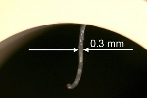 Lithium metal extruded through the Ref-bore forming a thin wire. In practice, just push the lithium to the inner surface of the Ref-sleeve – no more, no less.